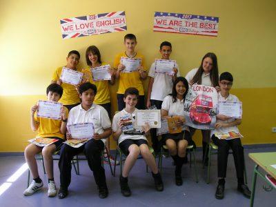 COLEGIO DIOCESANO MARÍA INMACULADA (Carabanchel) - Nuestros alumnos de 2º ESO felices de participar en su concurso de inglés favorito.