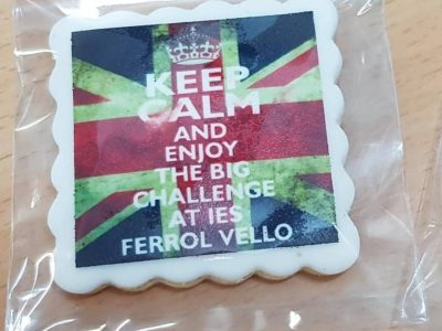 IES FERROL VELLO (FERROL)  Every year the school gives the participants a sweet present for their participation in the contest. This is our 2019 biscuit!