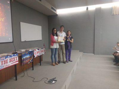 Zaragoza, Colegio Teresiano del Pilar, Felicitaciones a Stoyan Plamenov, primero de la provincia del nivel 2º ESO