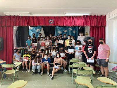 ALMERÍA, IES EL ALQUIÁN. La ceremonia de entrega de premios la hicimos en dos días. Los alumnos que aparecen son de 1º, una parte de 3º y de 4º ESO.