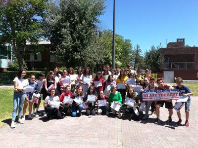 Entrega de Premios del Concurso de premios del Big Challenge en el Colegio Corazón de María, Zamora.