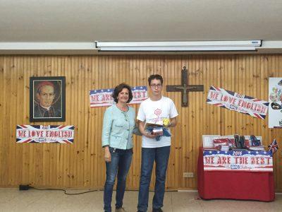 Zamora, Colegio Corazón de María First Province Award 1° ESO, Ricardo Bragado. Congratulations