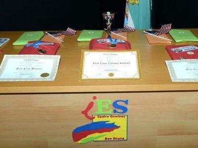 Enseguida empieza la ceremonia de entrega de premios. IES Cuatro Caminos de Don Benito (Badajoz)