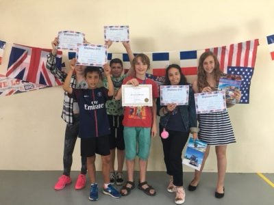 Les lauréats du niveau 6e Collège Champagne Thonon les Bains