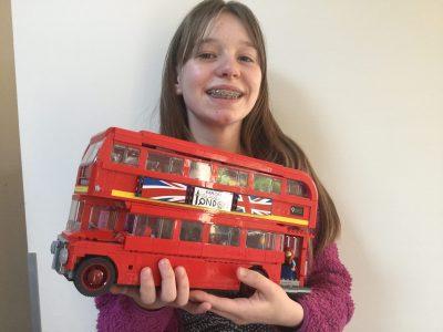 Lavans-les-saint-claude  collège du plateau   Un bus londonien en lego