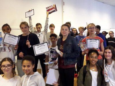 Les 4e du collège du HAUT MESNIL (Montrouge) célèbrent leurs résultats 2018