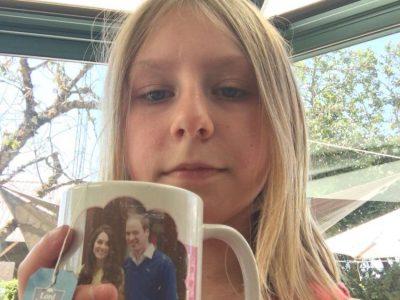Avallon, college parc des chaumes . Nous faisons la collection des tasses de la famille royale, voici celle de la princesse Charlotte . Avec du thé Earl Grey.