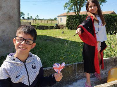 SAINT VARENT COLLEGE FRANCOIS VILLON Flag floats!