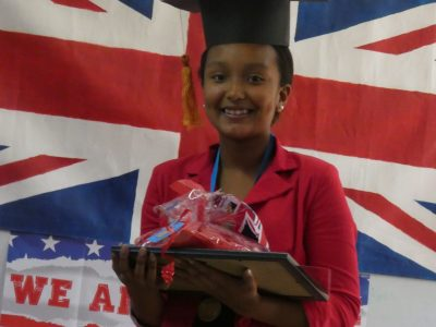 Mille Roches school ( Saint- André ,Réunion ) : Ophélie is the top student in her level ( year 8 ) : CONGRATS !!!!