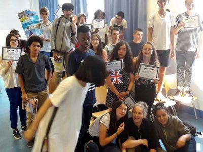 Les 3e du collège du HAUT MESNIL (Montrouge) célèbrent leurs résultats 2018