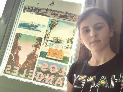 Sainte- Pazanne  Collège Sacré-cœur  Ma photo est un poster ou il y a écrit dessus Los Angeles et ou il y a des paysages de Los Angeles dessus.