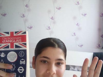 Bonjour je m'appelle Hadia Vardak, j'habite à Beauchamp. Je suis contente d'avoir passer le concour big challenge de chez moi ! J'ai pris 2 objet qui sont en lien avec l'anglais. Good bye