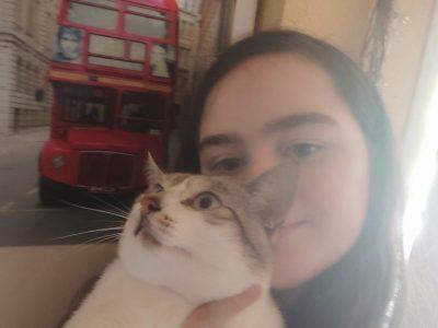 Moi et mon chat qui se souviendront du big challenge 2020 !!  Collège Francois Rabelais  Montpellier, malbosc