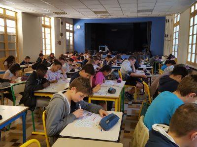 103 élèves ont composé très sérieusement hier à l'Institution Notre-Dame à Toulon. Good luck to you!