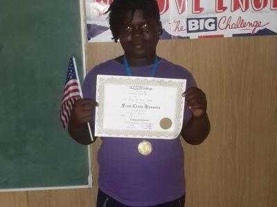 1er prix Big challenge niveau 6e collège d'Apatou en Guyane. Congratulations