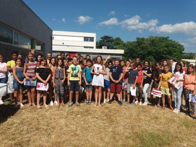 Félicitations à tous les élèves du collège Marie Rivier à Bourg St Andéol (07)