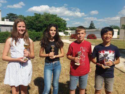 4 coupes départementales pour le collège Marie Rivier à Bourg St Andéol. Félicitations aux lauréats