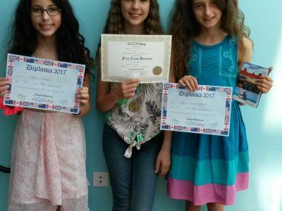 Collège Léonard de Vinci, Bouffémont (95) Our best 6e students! Congratulations to you, girls!