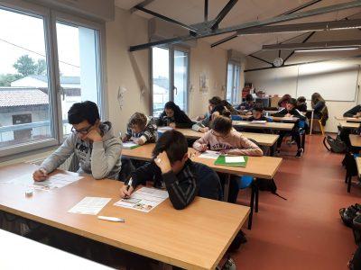 Les élèves de LA PROVIDENCE à REVEL sont très concentrés pour le Big Challenge ce matin! Good luck everyone :)