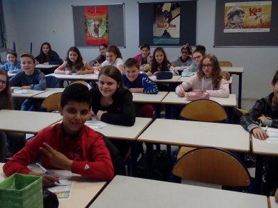 INGERSHEIM, Collège Lazare de Schwendi. Les 6èmes ont bien travaillé et sont ravis d'avoir fini!