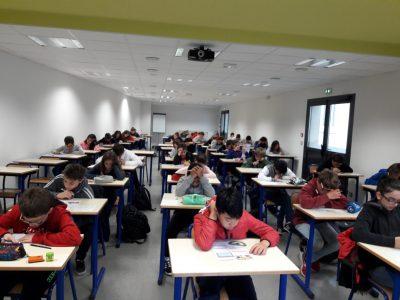 Au collège PRADEAU LA SEDE, à Tarbes... grande concentration, beaucoup de sérieux pour notre énième participation à ce grand concours !