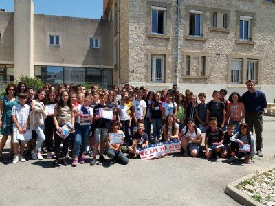 Les élèves du collège Marie Rivier à Bourg St Andéol