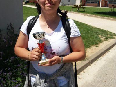 Félicitations à Alessia Iftime qui remporte la 3°place départementale en Ardèche (collège Rivier à Bourg St Andéol )