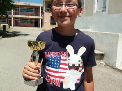 Félicitations à Thomas Lacroix qui remporte la 4°place départementale niveau 4° en Ardèche (collège Rivier à Bourg St Andéol )