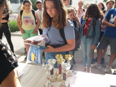 Félicitations à Emma Farcy qui est classée 3° départementale en Ardèche niveau 3° (collège Marie Rivier à Bourg St Andéol )