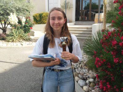 Félicitations à Emma Gaffet qui remporte la 3°place départementale en Ardèche niveau 5° (collège Marie Rivier Bourg St Andeol)