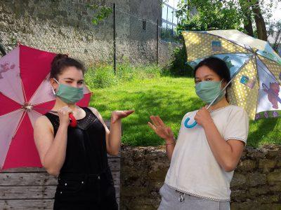 Boulay-Moselle, collège Victor Demange.   Attention ! N'oublions pas les gestes barrières : port du masque et bonne distanciation !