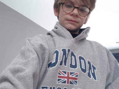 Pérenchies, collège J Monod. J'adore le rugby et le drapeau du Royaume Uni