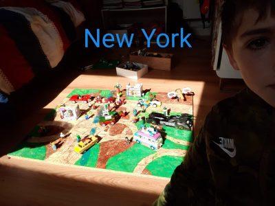 La V0ille du Bois ISC J'ai fait New York en Lego