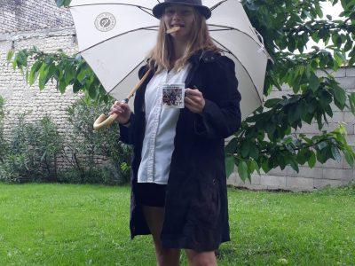 Cognac, Félix Gaillard. Temps pluvieux sur Cognac, idéal pour prendre une photo :)