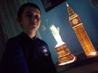 Saint-Nazaire Collège Jean Moulin. Quand la Statue de  la liberté se déplace à côté de Big Ben.