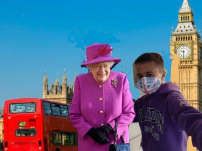 Saint-Jeannet, Collège des Baous  Me Visiting London whith the Queen Elisabeth II