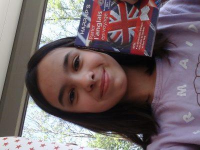 Collège lyautey Contrexeville moi avec mon livre pour parler anglais en voyage