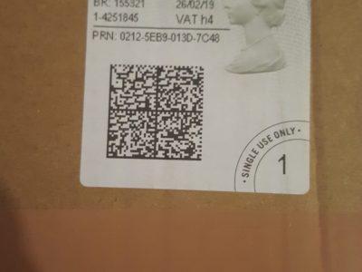 Collège Paul Vaillant Couturier à champigny sur marne.  Voici une photo du timbre d'un colis royal mail que j'avais reçu.