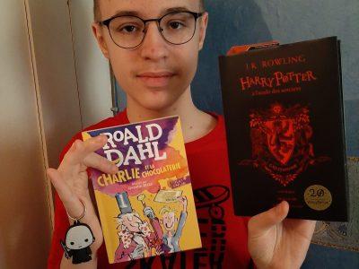 """Valenciennes, Saint Jean-Baptiste de La Salle  Bonjour je m appelle Jean et je suis fan de la saga de films Harry Potter et je commence juste à lire les livres. Mais aussi j adore """"Charlie et la chocolaterie"""" de Roald Dahl."""