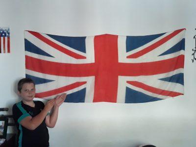 Valréas collège saint Gabriel  voici mon drapeau du royaume uni