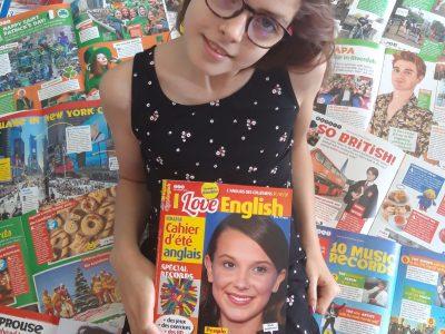"""Collège St EXUPERY à Ambérieu en BUGEY.  Suivre l'actualité en anglais depuis 2 ans grâce à mon parrain qui m'a offert un abonnement au magazine """"I LOVE ENGLISH"""". Qu'elle bonne idée !"""