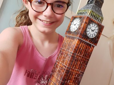 Collège Les Garrigues - ROGNES 13840 - This is my Big Ben 3D puzzle! It can light.