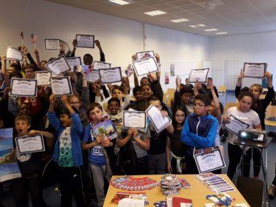 Les 6e du collège du HAUT MESNIL (Montrouge) célèbrent leurs résultats 2018