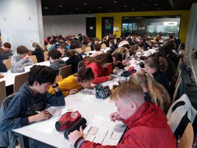 Collège les Fontanilles à Castelnaudary (Aude).  En pleine concentration... Les neurones s'activent... because The Big Challenge rocks !