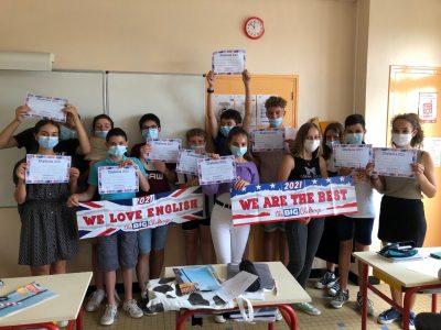 Bravo aux élèves de 4ème du collège Sainte Marie de Cassagnes Bégonhès dans l'Aveyron!