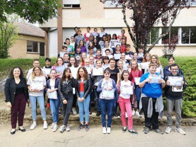 Les élèves du collège Arnault de Mareuil!