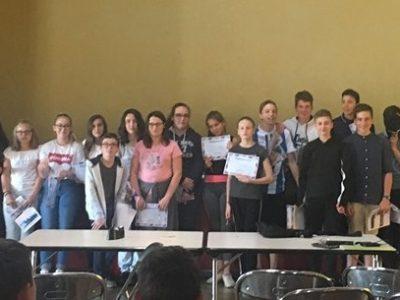 4ème Students at Collège Calmette et Guérin in Ecueillé (36) love the Big Challenge competition !