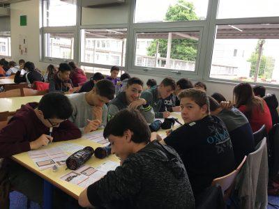 Collège du Vic-Bilh à Lembeye (64350) 77 pupils ready for today's Big Challenge !