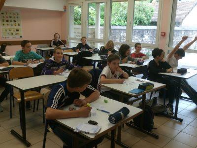 Les 6èmes A du collège Laurent Monnier à Saint-Aubin (39) prêts pour le Big Challenge !