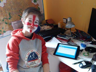 Collège Arthur Rimbaud BELFORT   J'ai adoré faire le big challenge maquillé en drapeau de l'Angleterre !